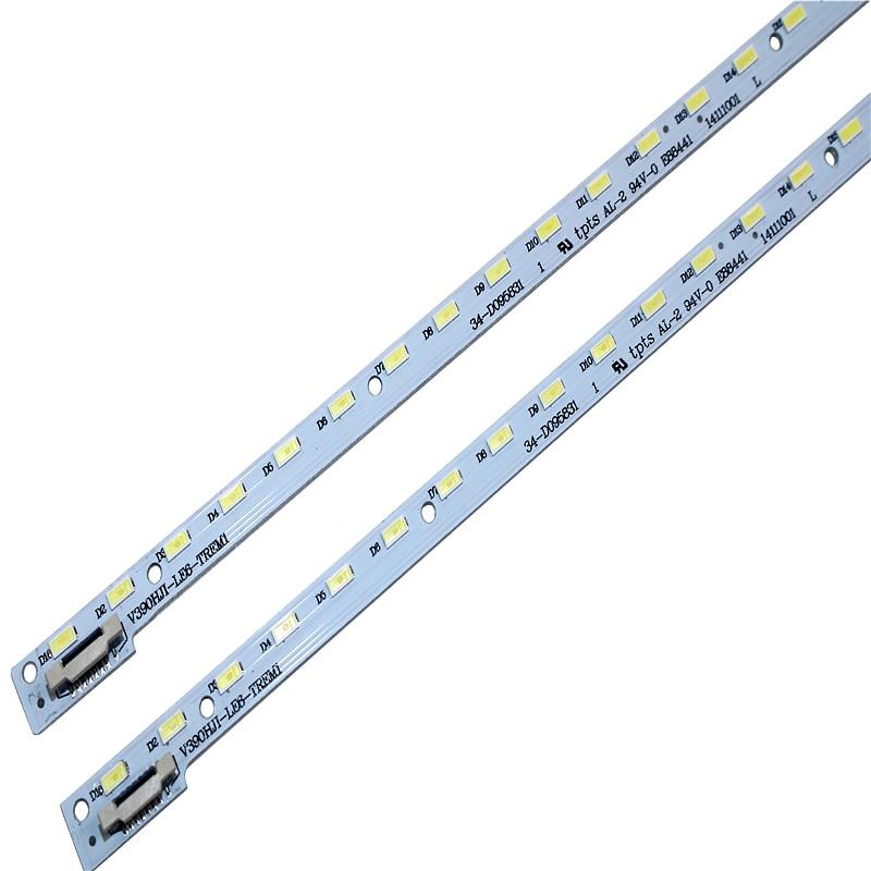New 2pcs 48LED 490mm LED Backlight Strip For 39inch V390HJ1-LE6-TREM1 V390HJ1-LE6-TREW1 C420E06E01A L390H101EA-C002