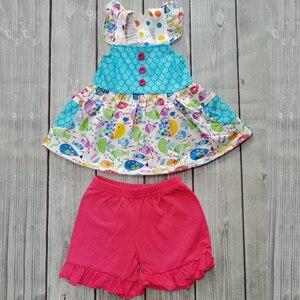 Летнее платье с рисунком рыбьей чешуи для маленьких девочек; Костюм; Платье с изображением сказочного подводного мира + Красные кружевные ш...