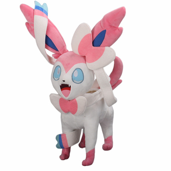 46cm Anime silveon juguetes de peluche muñecas encantadoras silveon juguetes bonitos con relleno para niñas Pikachu series muñecas de peluche