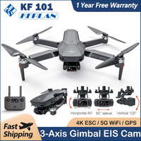 Neue KF101 4K Drone 3 Achsen Gimbal Professionelle EIS Kamera 5G WIFI FPV Eders GPS Luftaufnahmen Bürstenlosen faltbare Quadcopter