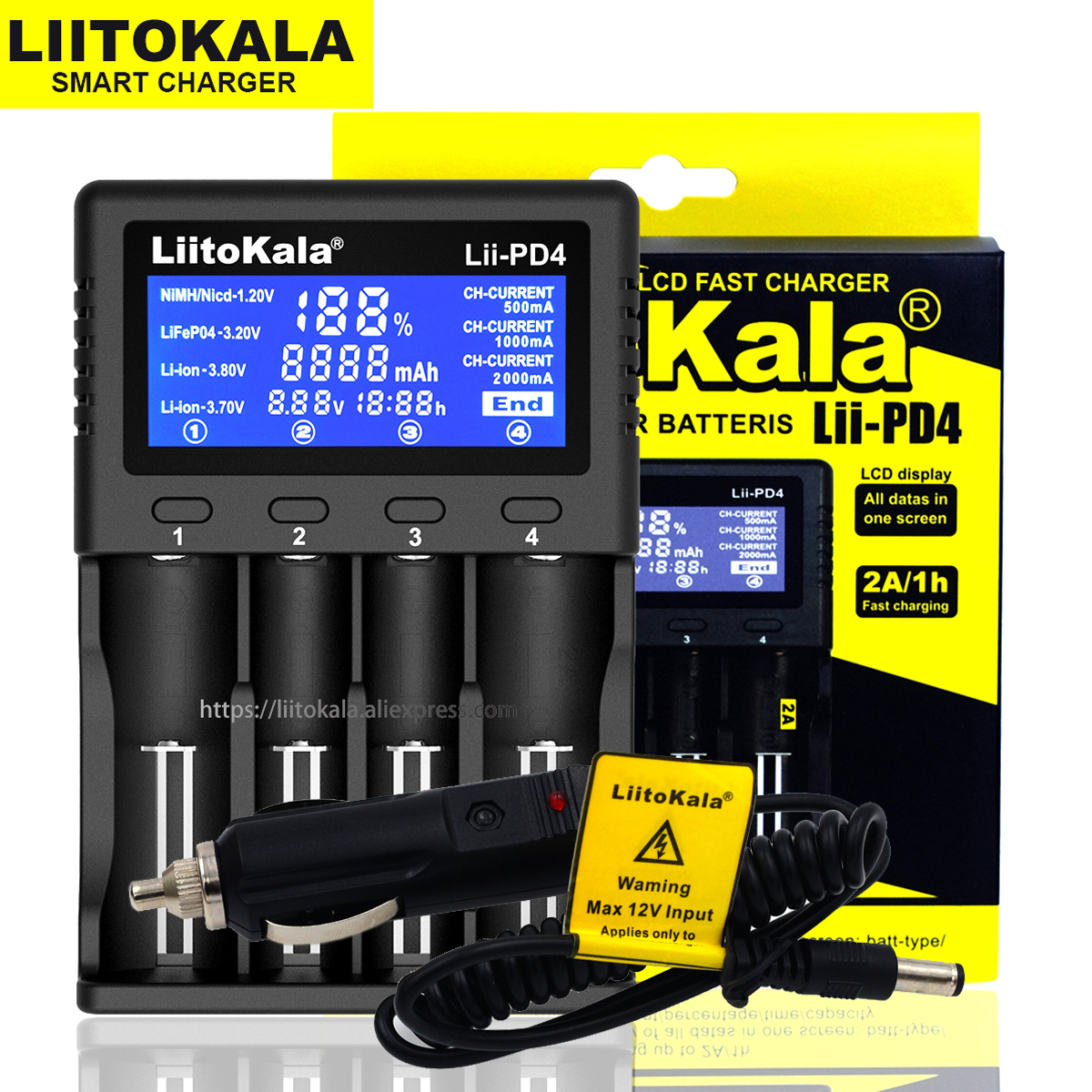 Liitokala Lii-500 Lii-PD4 Lii-S6 Lii-500S 18650 21700 26650 AA AAA For 18350 18500 16340 17500 25500 10440 17350 Battery Charger