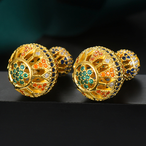 Image 2 - GODKI Luxury Vintage Hollow Ball For Women Wedding Party Cubic Zirconia Earring High Jewelry Addiction
