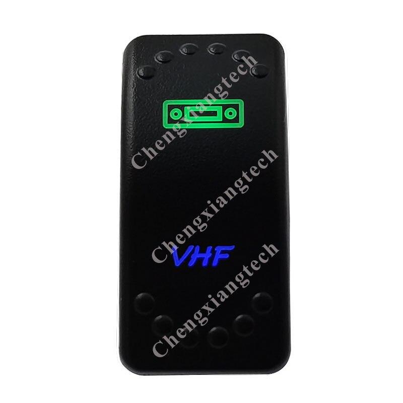 VHF, купив зеленые и пуховой подкладкой синий светодиодный светильник рокер кнопочный переключатель 5 шпильки SPST переключатель включения/OFF 12V 24V для морской катер автомобиля Водонепроницаемый