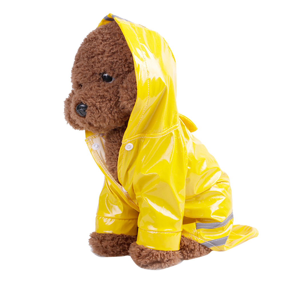 Dog Raincoat Summer Outdoor Waterproof Hooded Cloak Jackets PU Raincoat for Dogs Cats Apparel Clothes For