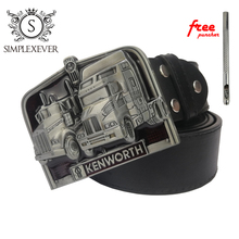 Truck Silver Mens Belt Buckles Head with Leather Zinc Alloy Buckle for Men Dropshipping
