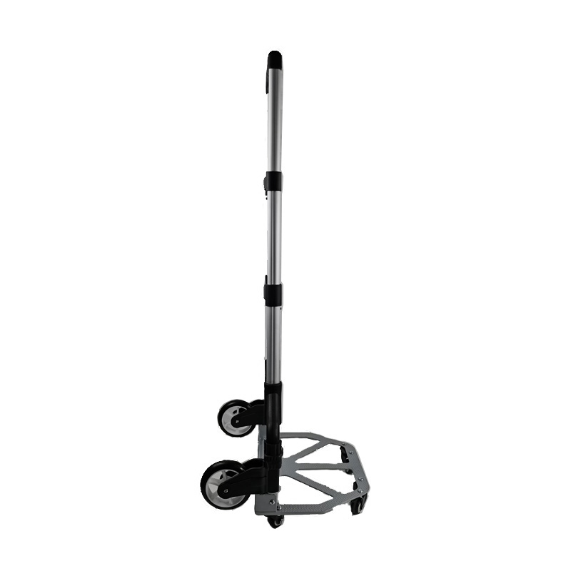 Folding Hand Truck Dolly, 60Kg/132 LBS Heavy Duty 2-Wheel Aluminum Cart Compact and Lightweight for Luggage