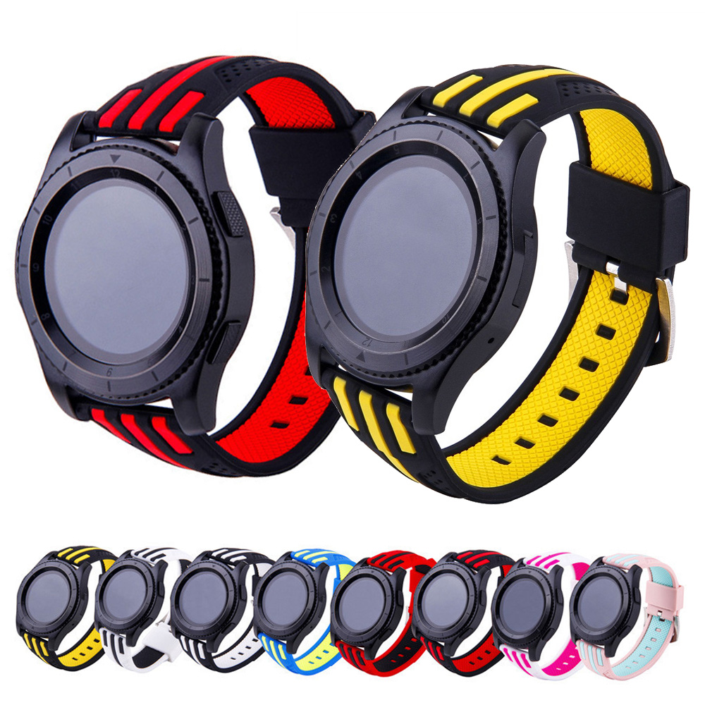 22mm Silicone Wristband Strap for HUAWEI watch GT 2 46mm / GT Active 46mm HONOR Magic strap Bracelet GT2 <font><b>Smartwatch</b></font> Watchband image
