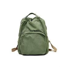Canvas Backpack Vintage Schoolbag Female College Girl Student Forest Women Campus Sense