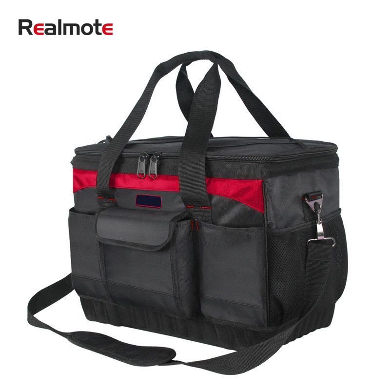 Realmte Professional Oxford Cloth Portable Tool Bag Storage Spanner Pouch Hardware Repair Toolkit Electrician Carpenter Package