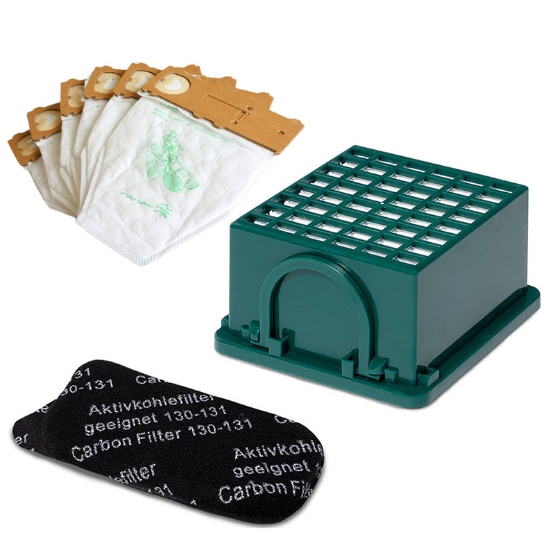 Filter+Filter Box+Dust Bags Kit For <font><b>Vorwerk</b></font> Kobold <font><b>VK130</b></font>, VK131 Accessory Parts image