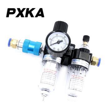 Darmowa wysyłka oleju sprężarki powietrza-separator wody powietrza pompy powietrza filtr pneumatyczny dwuczęściowy AFR2000 zawór redukcyjny tanie i dobre opinie PXKA AFC2000