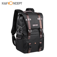 K&F CONCEPT Video Camera Bag Backpack Photography Storager Lens Bag for 15.6in Laptop with Rainproof Cover Photo Studio Tripod