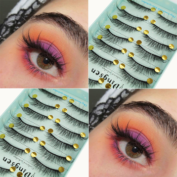 10 Pairs Faux Mink Hair False Eyelashes 3D Soft Natural Messy Eyelash Wispy Fluffy Crisscross Eye Lashes Extension Makeup Tools 5 pairs 3d mink hair false eyelashes natural thick long eye lashes fluffy wispy eye makeup beauty soft eyelash extension tools