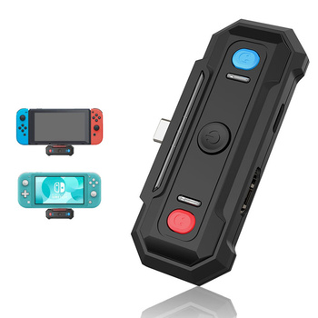 Switch Bluetooth Adapter Type-C Audio Wireless Transmitter Low Latency HDMI TV Base For Nintendo Switch Lite Console Accessories gulikit ns07 usb c route air bluetooth wireless audio adapter or type c transmitter for the nintendo switch switch lite ps4 pc