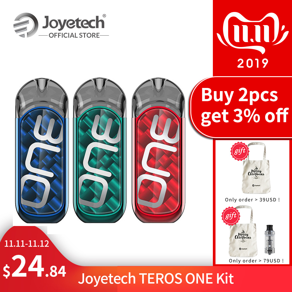 [FR] Original Joyetech TEROS ONE Kit Built In 650mAh Battery And 2ml Capacity 0.5ohm SS316 Mesh Coil Electronic Cigerette