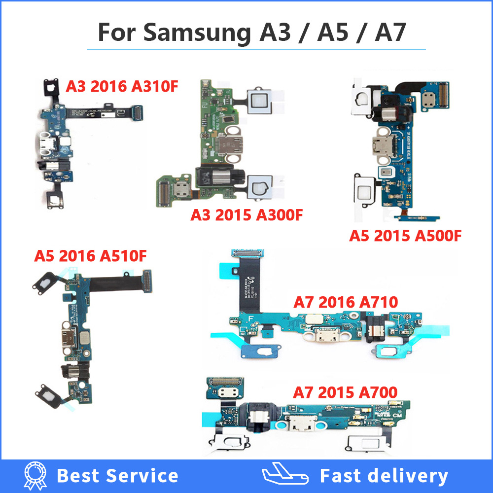 Charge Port Dock Connector Flex Cable For Samsung Galaxy A3 / A7 / A5 2016/2015 SM-A510F A510/ A500 F USB Charging Dock Cable(China)