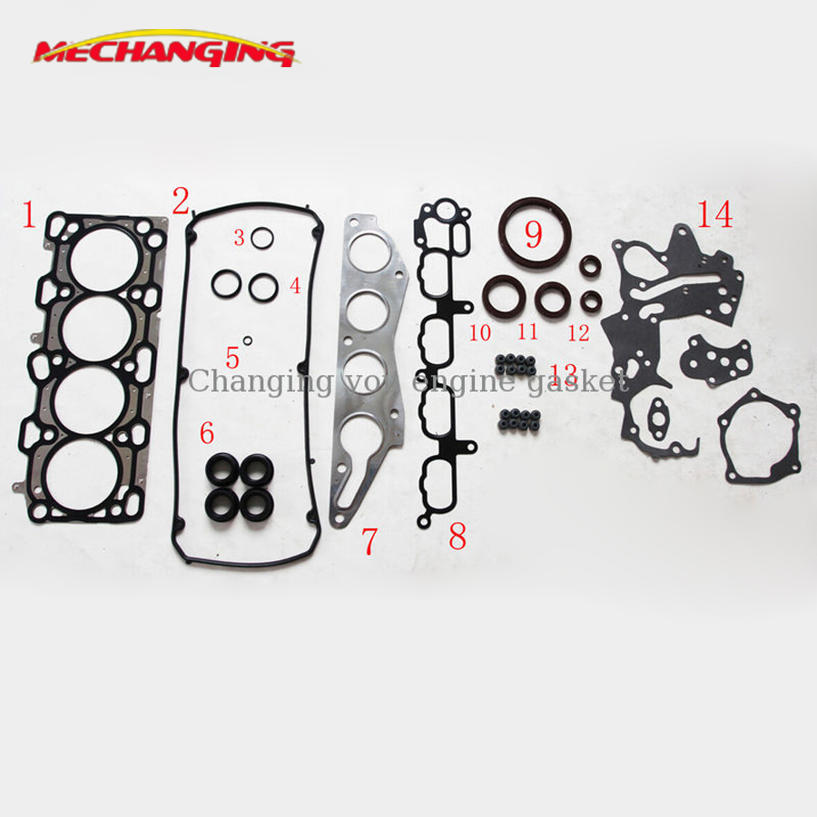 <font><b>4G69</b></font> FOR <font><b>MITSUBISHI</b></font> OUTLANDER OR GRANDIS OR GALANT 2.4L 4WD Engine Rebuilding Kits Full Set Engine Gasket MD979394 50253400 image