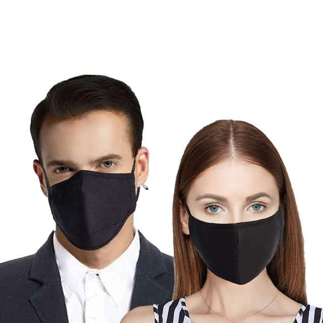 Cotton Mask PM2.5 Black mouth anti dust mask Activated carbon filter Windproof Mouth-muffle bacteria proof Flu Face masks Care