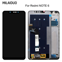 цена на LCD Display For Xiaomi Redmi Note 6 LCD Display Screen Touch Screen Panel Digitizer Assembly Replacement