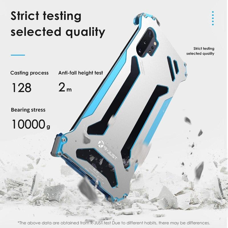 Image 2 - Металлический Чехол R Just Armor для samsung Galaxy Note 10 S10 S9 S8 Plus S10 Lite 5G противоударный чехол для Galaxy Note 8 9 S7 EdgeСпециальные чехлы   -