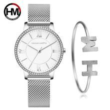Montre diamant pour femmes, élégante et sophistiquée de haute qualité, Ultra fine, maille en acier inoxydable, étanche, collection livraison directe