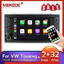 MEKEDE HD 2 Din Android GPS autoradio pour VW/Volkswagen/Touareg/Transporter T5 multimédia Naviagtion lecteur DVD Audio