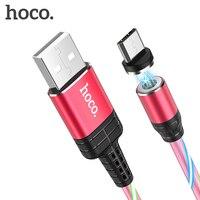 Cavo Micro USB magnetico HOCO 2.4A LED flusso luminoso per Samsung Xiaomi Huawei Android sincronizzazione dati cavo di ricarica rapida