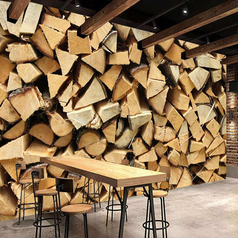 Custom Any Size Mural Wallpaper Modern Creative Wood Texture Wall Painting Restaurant Cafe Background Wall Papers For Walls 3 D