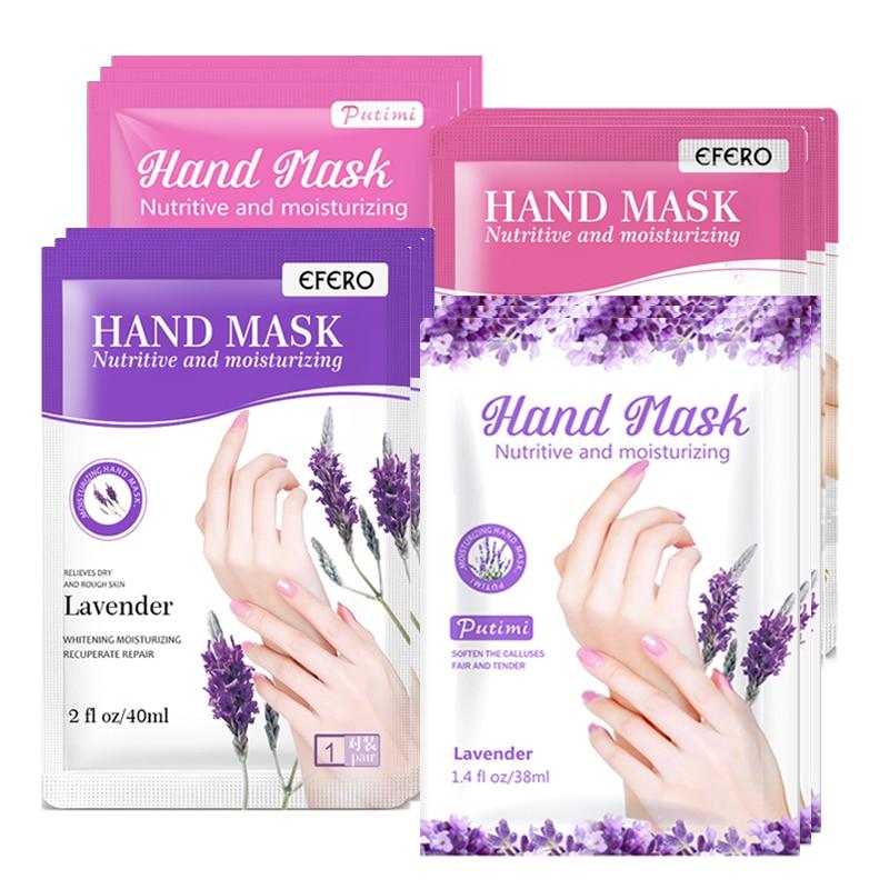 1/2pair Moisturizing Hand Mask Lavender Rose Aloe Nourishing Hand Care Whitening Anti-dry Hydrating SPA Hand Gloves Patch