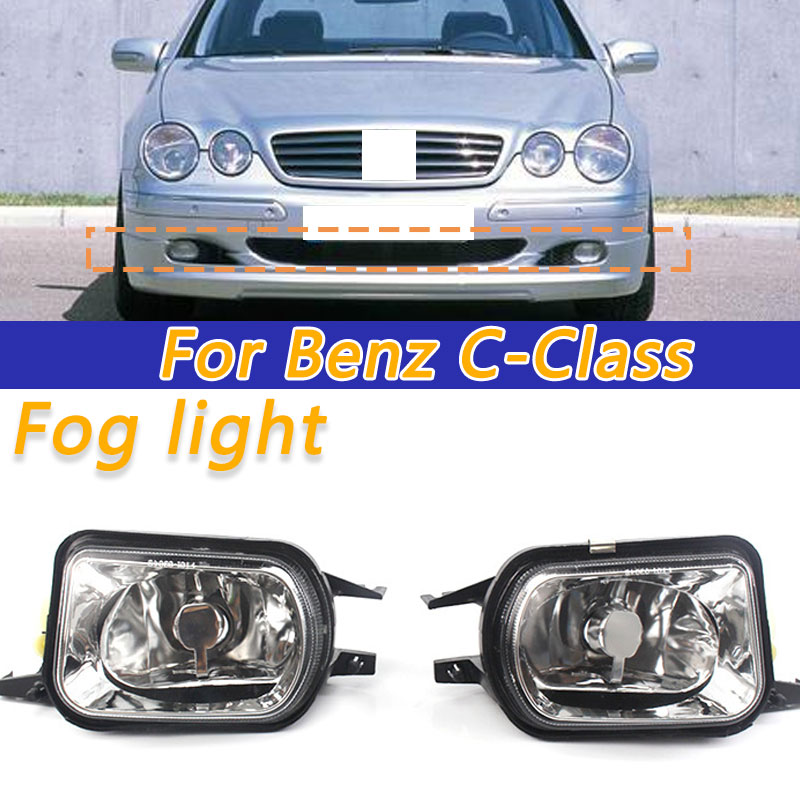 Left Right Bumper Fog Light Driving Foglamp Without Bulb For <font><b>Benz</b></font> W203 <font><b>C230</b></font> C240 C320 C350 W215 CL500 CL600 W209 CLK320 CLK500 image
