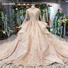 Htl509 럭셔리 두바이 이브닝 드레스 높은 목 심장 모양의 다시 레이스 크리스탈 여성의 경우 이브닝 가운 avond jurken