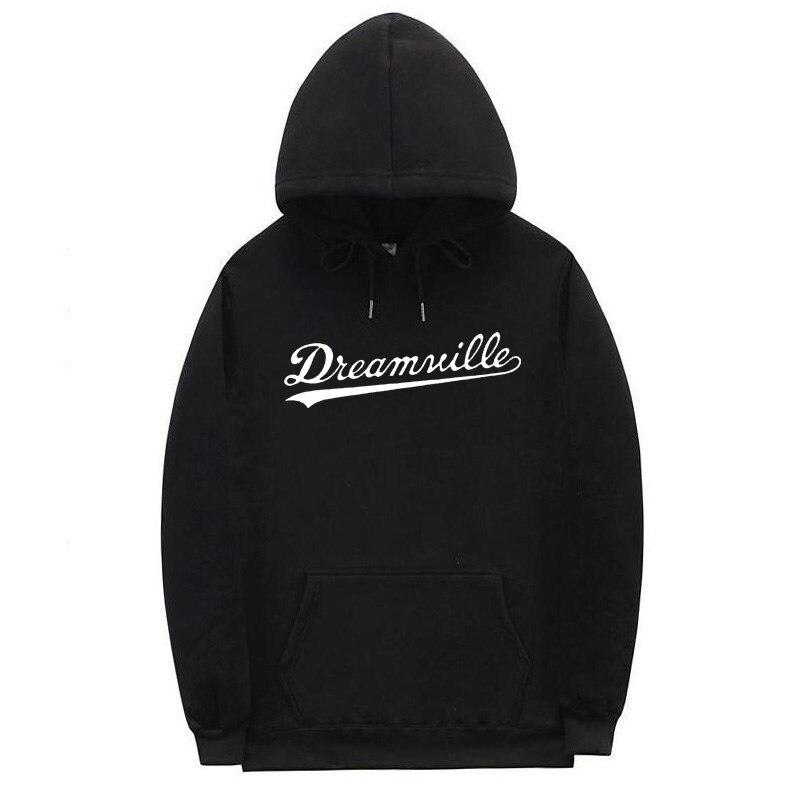 2019new Street Hoodie Men's Hip Hop Dreamville J Cole Logo Hoodie Pendant Letter Fleece J Cole Hoodie Winter Men Sports Pullover