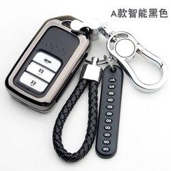 Çinko alaşım akıllı uzaktan araba anahtarı durum kapak Honda Vezel şehir civic caz BRV BR-V HRV anahtar kutu Fob
