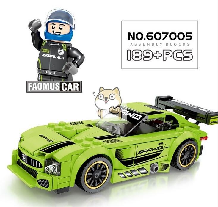 Детские сборные игрушки знаменитый автомобиль супер бегущий гоночный маленькие частицы Волшебные блоки для сборки конструктор-головоломка - Цвет: 005