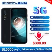 Blackview هاتف ذكي ، BL6000 Pro ، 8 جيجابايت ، 256 جيجابايت ، 6.36 بوصة ، 48 ميجابكسل ، مقاوم للماء ، هاتف ذكي ، كاميرا ثلاثية ، 5280 مللي أمبير ، BL6000 Pro ، 5G