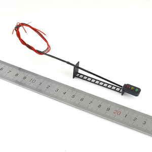 Image 5 - 5Pcs Escala HO Modelo Ferroviário 3 Luz T149 Bloquear Os Sinais G/Y/R 7.5 centímetros 12V Levou