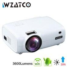 Wzatco E600 android 9.0 wifi のスマートポータブルミニ led プロジェクターの hdmi サポートフル hd 1080p 4 4k ビデオホームシアタービーマー proyector