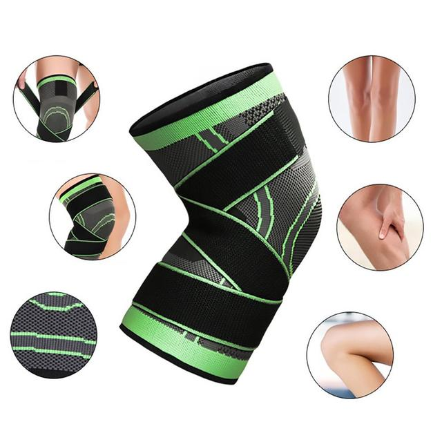1PC Kneepad Elastic Bandage Pressurized Knee Pads Knee Support Protector for Fitness sport running Arthritis muscle joint Brace 2