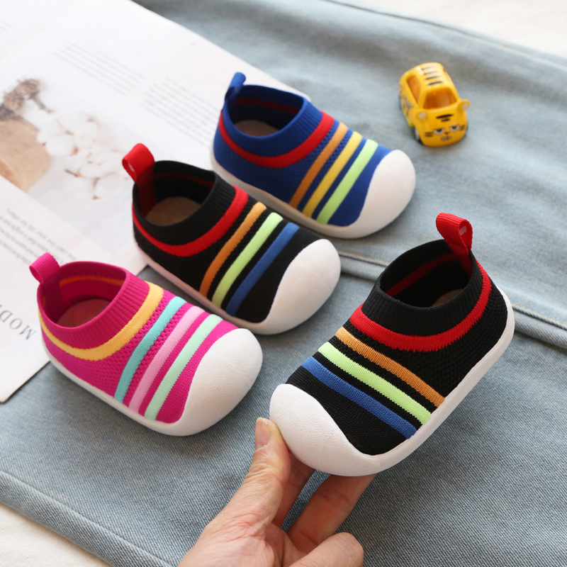 2020 Spring Girls Boys Toddler Shoes Comfortable Infant Casual Mesh Shoes Non-slip Knitting Soft Bottom Baby First Walkers Shoes