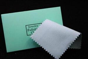 Image 1 - 100 sztuk 10*7CM TF niebieski srebrny polski pakiet do czyszczenia i polerowania tkaniny srebrna ściereczka do czyszczenia wycierania srebrna biżuteria suede