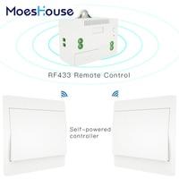 RF433 Wireless Self Powered Fernbedienung Smart Switch Keine Batterie Benötigt Keine Draht. Wand Panel Sender Rocker Push-Taste