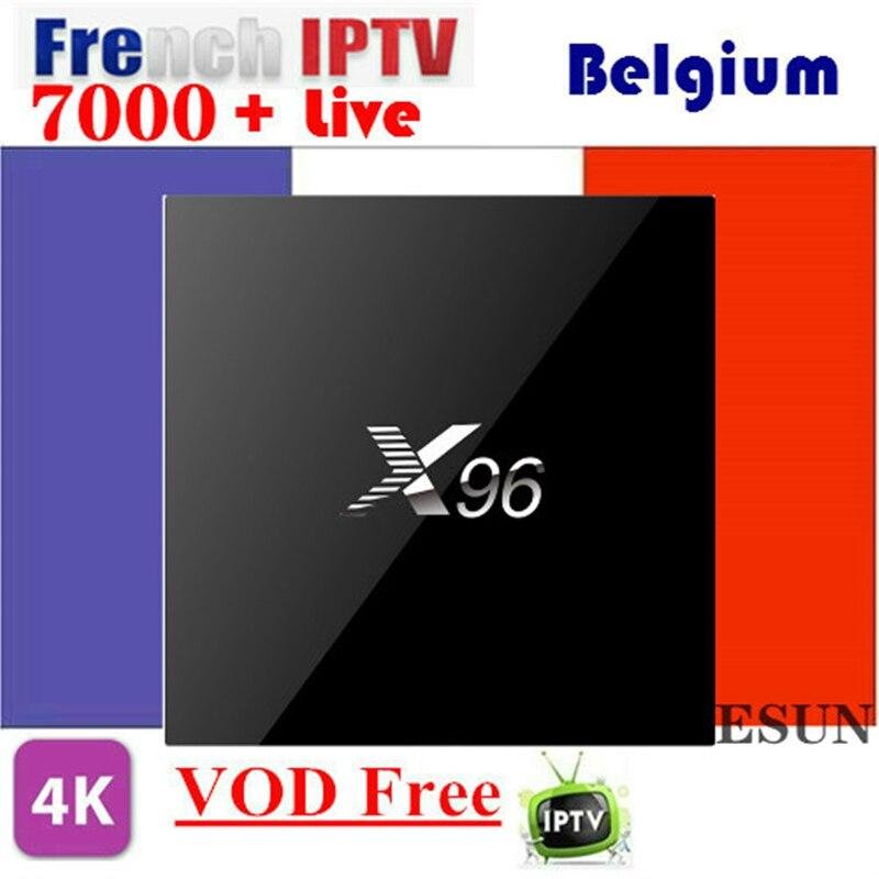 X96 avec 1 an IPTV français belgique IPTV boîte arabe IPTV boîte système Linux IPTV boîtier décodeur