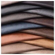 Quanfang imitação de couro sofá tecido nova tecnologia pano macio fo costura estofando diy saco mobiliário tecido almofada meio metro