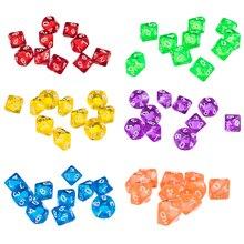 10 TEILE/SATZ 10 Seitige Kunststoff Polyhedral Würfel Set Blau Groß Ziffer Würfel Tisch Bord Spiel Zubehör für RPG Gmes