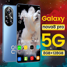 Global Version Nova8 Pro 6.8Inch Smartphone 6500mAh 8+256GB Dual SIM Dual Standby Support Face ID Wifi GPS 4G LTE 5G Mobilephone