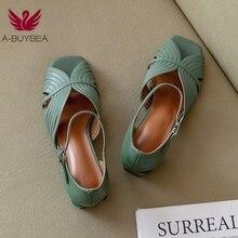 Sandálias femininas de couro legítimo, sapatos de festa femininos tamanho 33 a 40, embalagem concisa do tornozelo, novos, verão, 2020