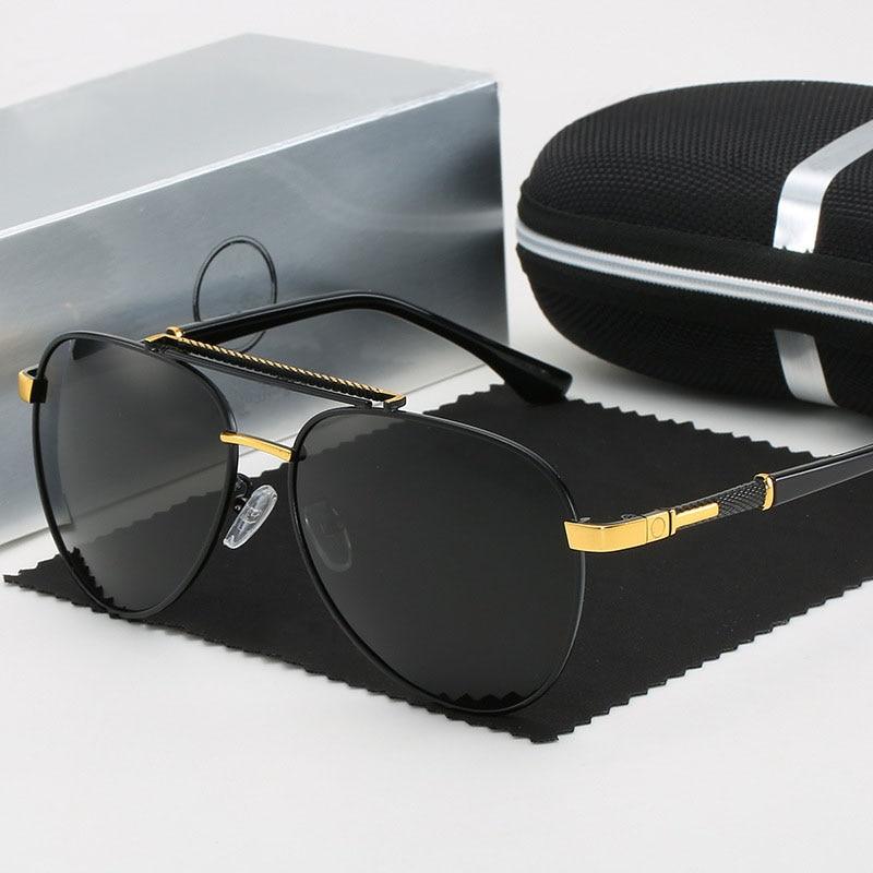 Luxury Brand Mercede Polarized Sunglasses Men Fashion Retro Vintage Sunglasses Pilot Driving Fishing Glasses Gafas De Sol 11003