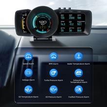 HUD-sistema de alarma multifunción para salpicadero de coche, velocímetro inteligente con GPS, OBD2, sistema de control de Turbo Boost, nuevo, 2021