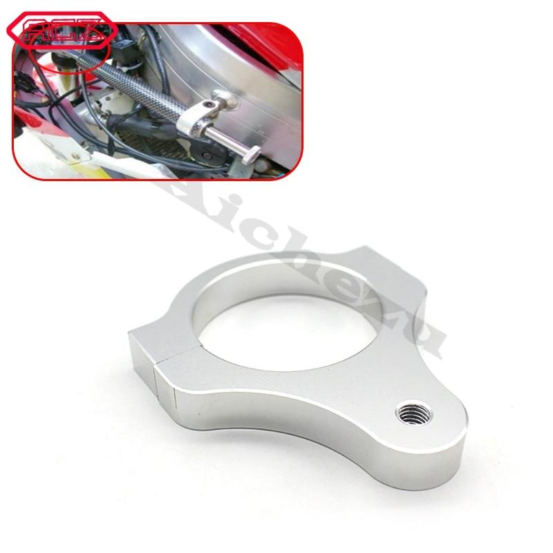 39mm Diameter Aluminum Universal Steering Damper Fork Frame Mounting Clamp Bracket Foot Fixer for Motorcycle Bike Modification