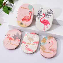 Vicney New Flamingo Element Mirrors Double Sided Portable Mini Makeup Compact Pocket Mirror Magnifying Folding